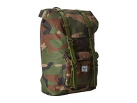 Herschel Little America Mid Volume Woodland Camo Army Rubber Backpack Bags Olive