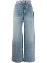 Re Done Wide Leg Flared Jeans Blue