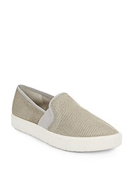 Vince Blair Woven Slip On Moccasins Oyster