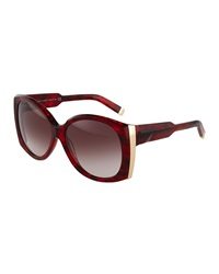 Dsquared2 Women's Large Square Sunglasses Red Havana