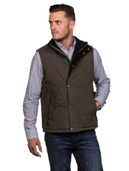 Raging Bull Men's Big And Tall Quilted Gilet Khaki