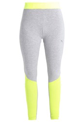 Puma Transition Tights Safety Yellow Light Grey