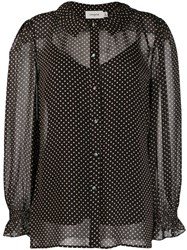 Coach Sheer Polka Dot Print Blouse 60