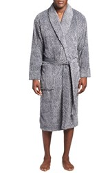 Men's Daniel Buchler Mosaic Stripe Fleece Robe