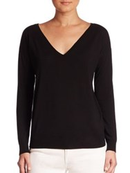 Ralph Lauren Easy V Neck Wool Sweater Black