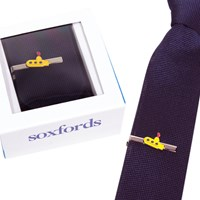 Soxfords Silk Knit Tie And Hand Finished Tie Bar Set Pink
