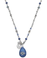Lonna And Lilly Wishing Star Pendant Necklace Blue