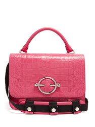 J.W.Anderson Crocodile Effect Leather Bag Pink
