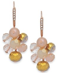 Styleandco. Style And Co. Rose Gold Tone Blush Bead Cluster Drop Earrings