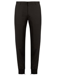 Lanvin Zip Cuff Crepe Trousers Black