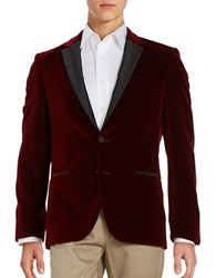 Hugo Velvet Smoking Jacket Red