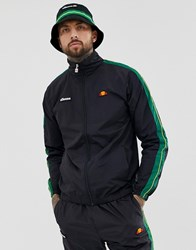 Ellesse Fiastra Co Ord Track Jacket With Sleeve Stripe In Black