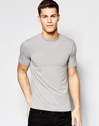 New Look Muscle Fit T Shirt In Grey Grey