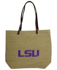 Little Earth Lsu Tigers Burlap Tote Brown