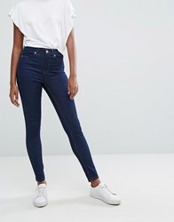 Oasis Mid Rise Skinny Jeans Mid Wash Blue