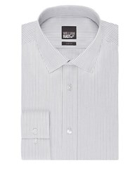 William Rast Slim Fit Striped Dress Shirt Grey