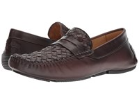 Massimo Matteo Woven Penny Driver Burnished Cafe Shoes Brown