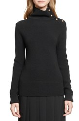 Chloe Women's Chloe Military Rib Knit Turtleneck Wool Sweater
