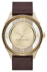 Women's Marc Jacobs 'Tether' Skeleton Leather Strap Watch 36Mm