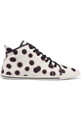 Marc By Marc Jacobs Polka Dot Canvas High Top Sneakers White