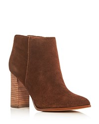 Ivanka Trump Carver High Heel Booties Brown