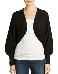 Guess Cotton Cocoon Cardigan Jet Black