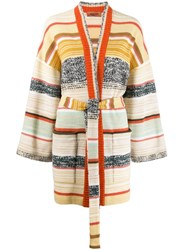 Missoni Color Block Stripes Cardigan Neutrals