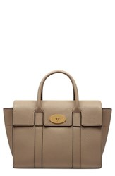 Mulberry 'Small Bayswater Classic' Leather Satchel Grey Dune