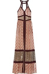 Tamara Mellon Printed Silk Blend Maxi Dress