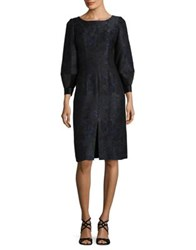 Barbara Tfank Inc. Bubble French Jacquard Knee Length Dress Black