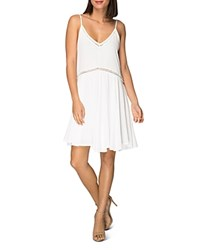 B Collection By Bobeau Betty Sleeveless Embroidered Dress White