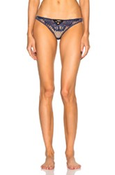 Fleur Du Mal French Net Lace Thong In Blue