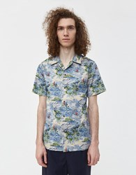 Native Youth Flash Button Up Shirt Blue