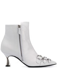 Casadei K Blade Taylor Boots White