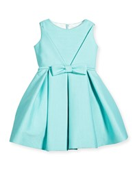 Helena Sleeveless Pique A Line Dress Aqua Blue Size 7 14 Girl's Size 8