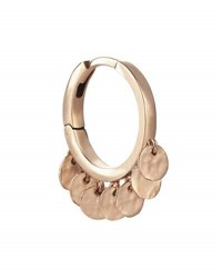Kismet By Milka Seed Dangling Circle Hoop Earring In 14K Rose Gold