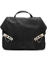 Anthony Vaccarello Leather Backpack Black
