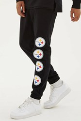 Forever 21 Nfl Steelers Fleece Sweatpants Black White