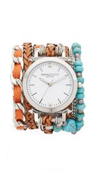 Sara Designs Turquoise Wrap Watch Turquoise Silver