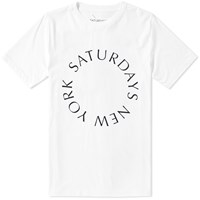Saturdays Surf Nyc Circle Tee White