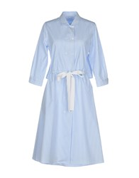 Caliban Knee Length Dresses Sky Blue