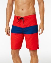 Tavik Men's Spectrum Boardshorts Red Blue