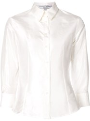 Carolina Herrera 3 4 Sleeve Classic Shirt White