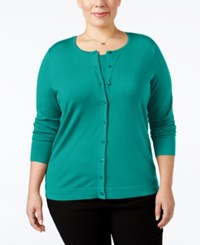 August Silk Plus Size Blend Cardigan Capri