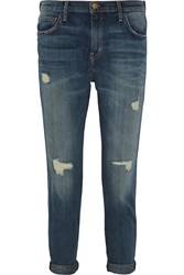 Current Elliott The Slouchy Stiletto Distressed Mid Rise Boyfriend Jeans
