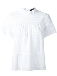 Proenza Schouler Frayed Top White