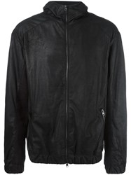 Isabel Benenato Zipped Jacket Black