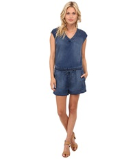 Dittos Courtney Romper Medium Enzyme Women's Jumpsuit And Rompers One Piece Blue