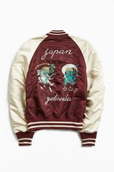 Alpha Industries Ma 1 Souvenir Shinto Jacket Maroon