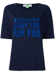Stella Mccartney Gluten Short Sleeved T Shirt Blue